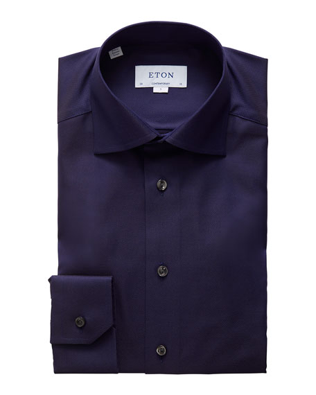 Eton Men's Contemporary Royal Oxford Dress Shirt