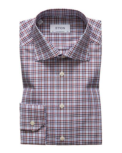 Men's Contemporary Check Dress Shirt