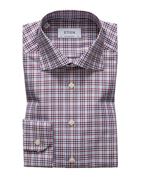 Eton Men's Contemporary Check Dress Shirt