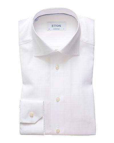 Men's Contemporary Tonal Stripe Dress Shirt