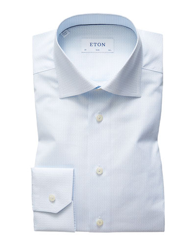 Men's Slim Tea Cup Shirt Dress Shirt