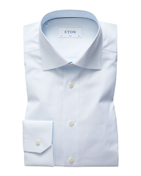 Eton Men's Slim Tea Cup Shirt Dress Shirt