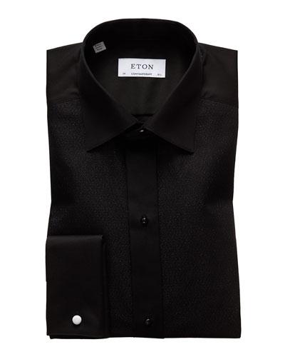 Frieed Men Casual Long Sleeve Curve Hem Plaid Colorblock Lapel Check Business Slim Fit Shirts