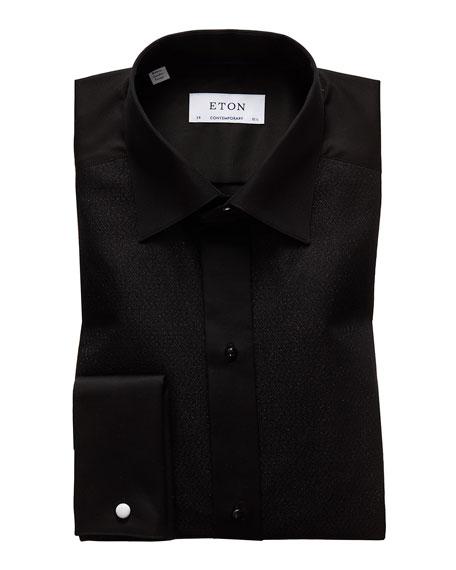 Eton Men's Slim-Fit Metallic Bib-Front Formal Tuxedo Shirt