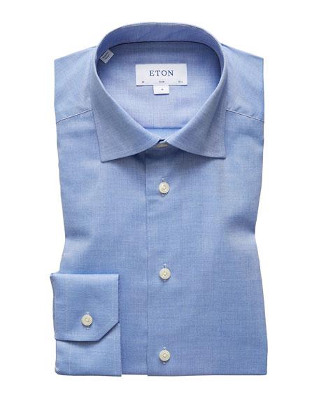Eton Men's Slim Lightweight Flannel Dress Shirt