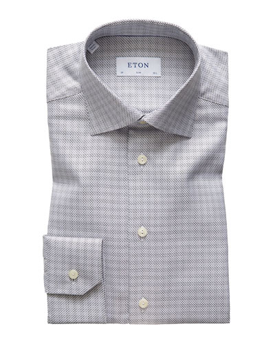 Men's Slim Textured Twill Dress Shirt