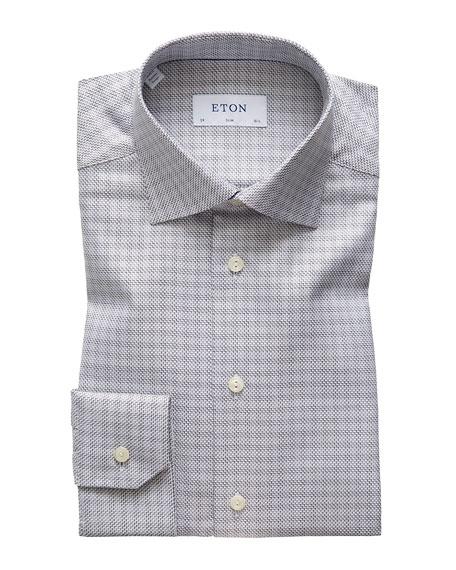 Eton Men's Slim Textured Twill Dress Shirt