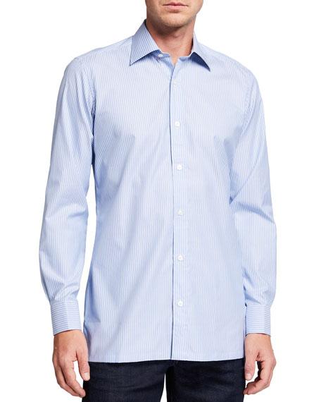 Charvet Men's Striped Cotton Sport Shirt