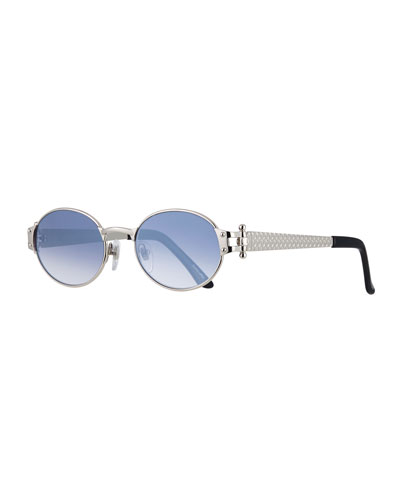 Men's 2000 Masterpiece Gold-Plated Oval Sunglasses