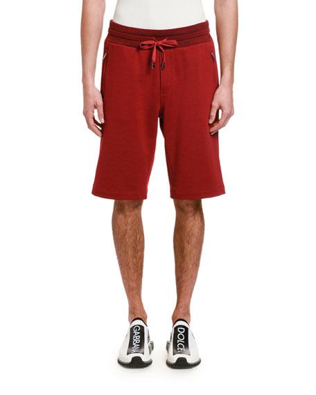 Dolce & Gabbana Men's DG Tag Zip-Pocket Sweat Shorts