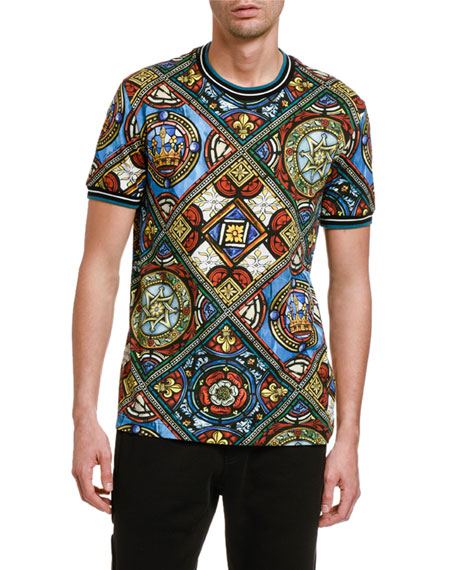 Dolce & Gabbana Men's Stained Glass T-Shirt