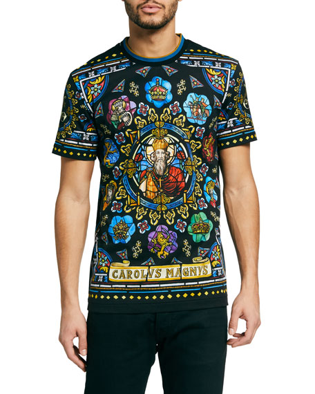 Dolce & Gabbana Men's French Stained Glass Tee