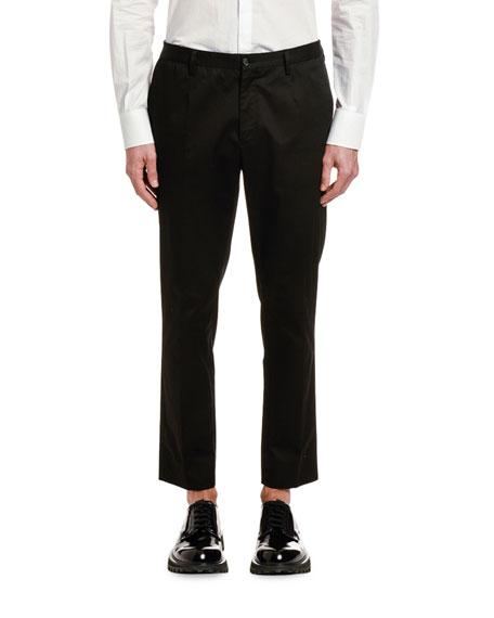 Dolce & Gabbana Men's Button-Down Shirt with Crown Patches