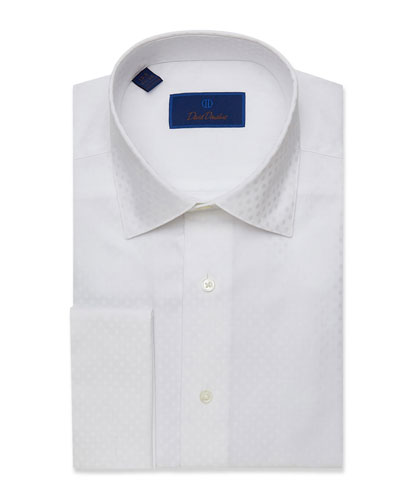Men's Regular-Fit Tonal Dot Dress Shirt