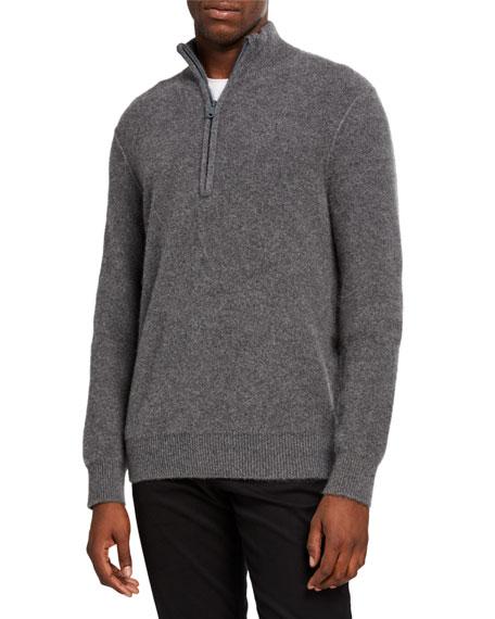 Vince Men's Half-Zip Cashmere Sweater