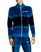 Palm Angels Men's Tie-Dye Chenille Track Jacket