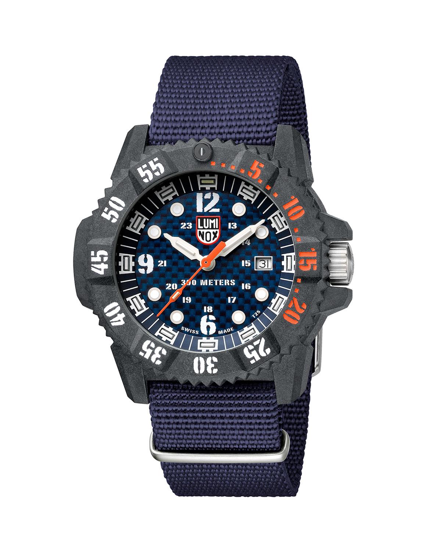 Men's 46mm Master Carbon SEAL Web-Strap Watch
