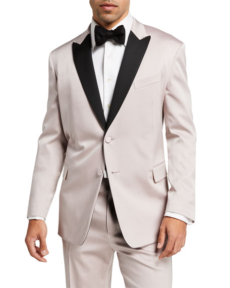 Valentino Men's Tuxedo with Contrast Satin Trim