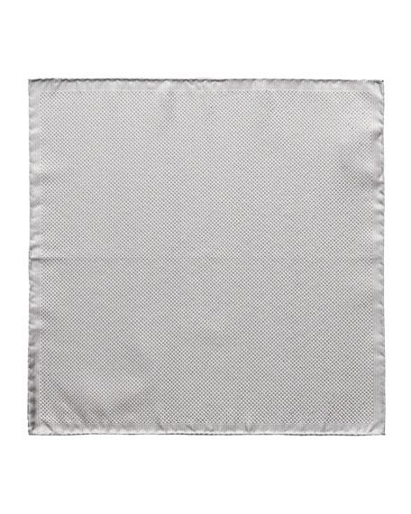 Eton Men's Formal Metallic Silk Pocket Square