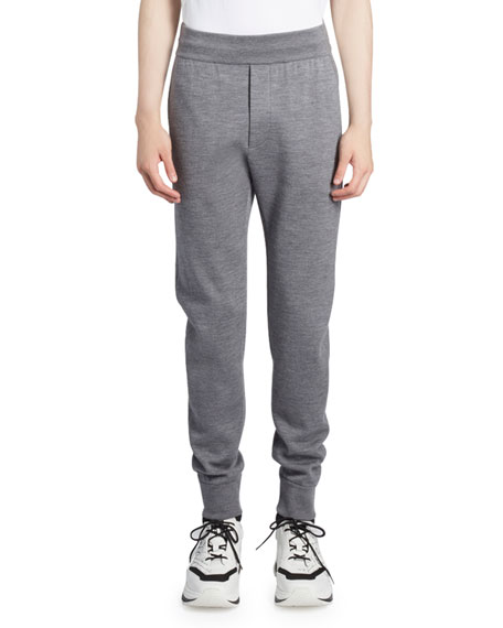 Berluti Men's Wool Knit Jogger Pants