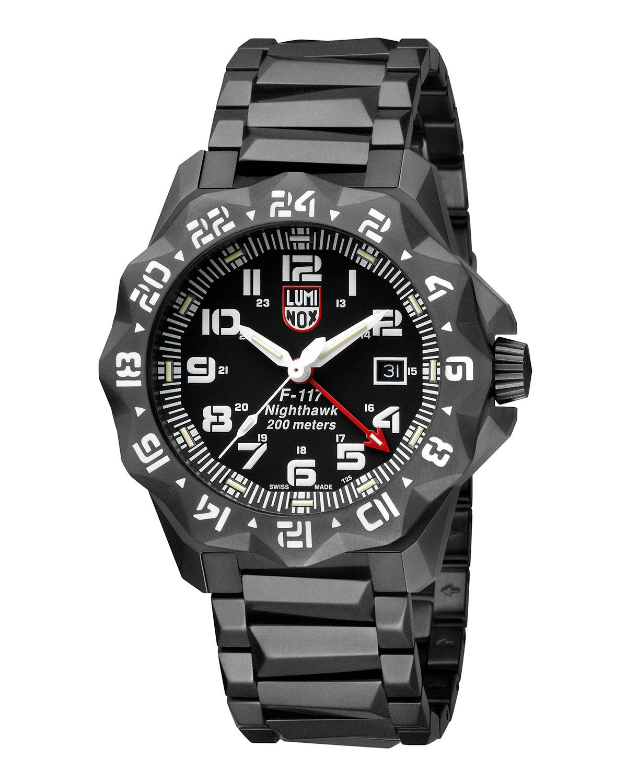 Men's 45mm Nighthawk 6400 Gunmetal Bracelet Watch