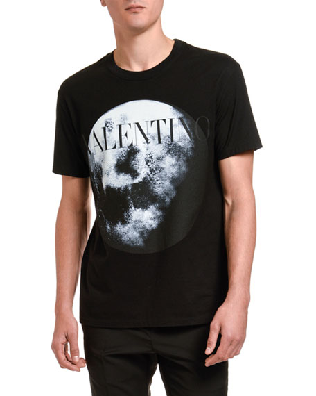 Valentino Men's Moon Graphic Logo T-Shirt