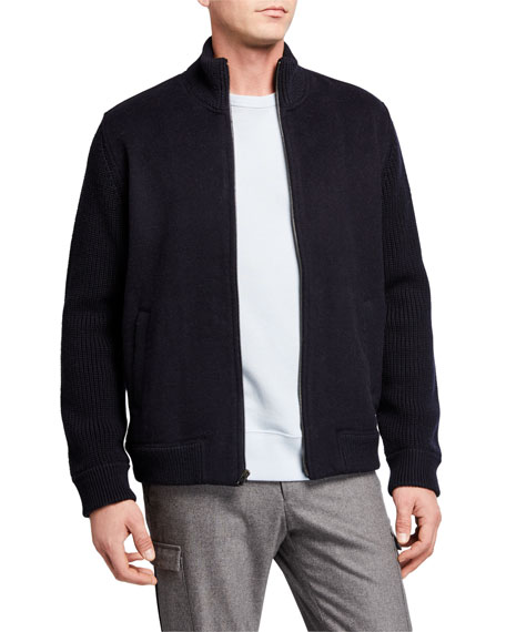 Vince Men's Wool Full-Zip Jacket