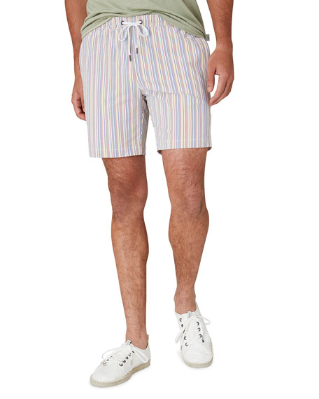 "Onia Men's Charles 7"" Stripe Swim Trunks"