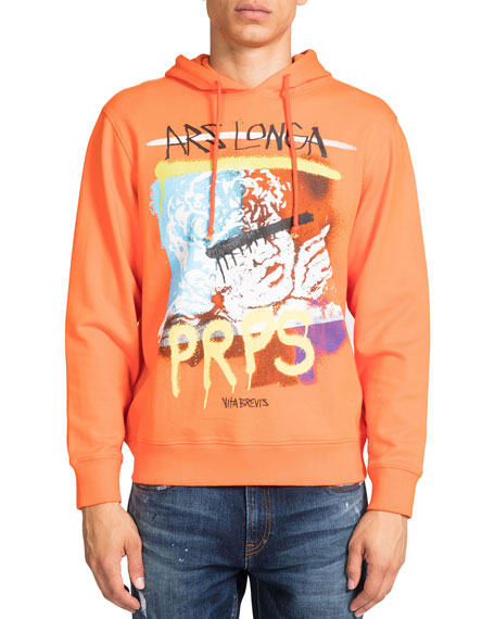 PRPS Men's Ars Longa Graphic Hoodie Sweatshirt