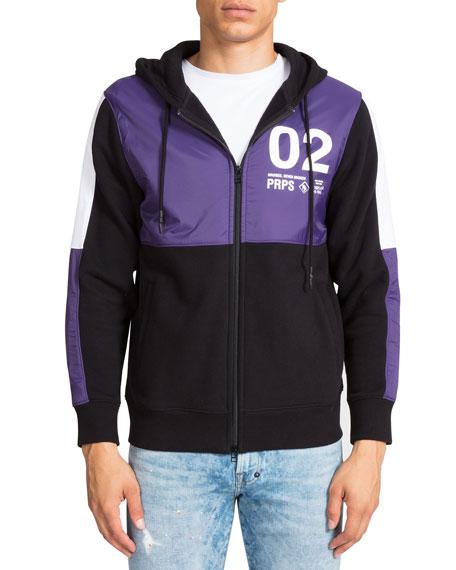 PRPS Men's Colorblock Zip-Front Hoodie