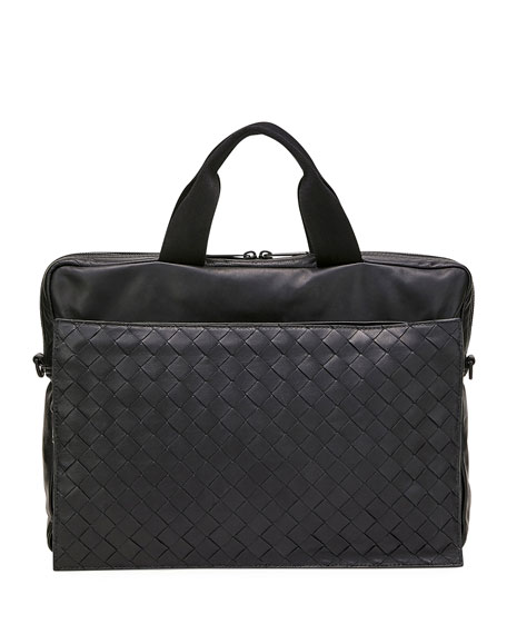 Bottega Veneta Men's Ultra-Light Leather Briefcase