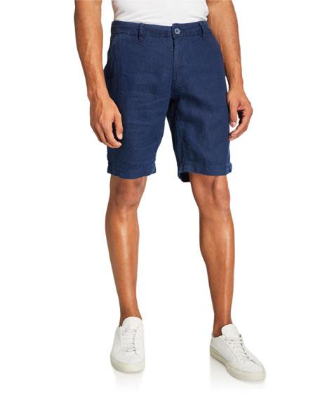 Onia Men's Austin Solid Linen Shorts