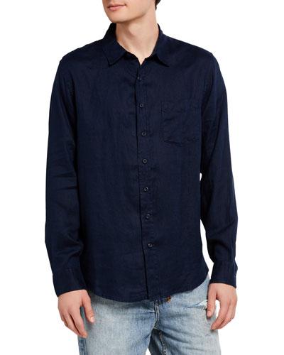Men's Abe Solid Linen Sport Shirt