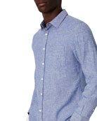 Onia Men's Abe Solid Linen/Cotton Sport Shirt