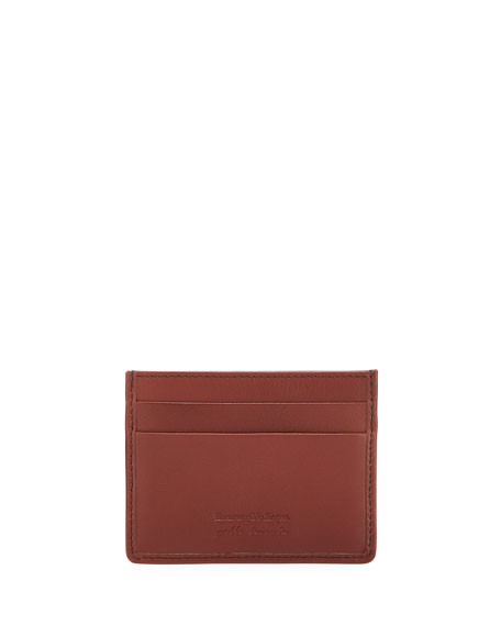 Ermenegildo Zegna Men's Woven Leather Card Case