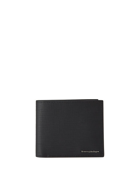 Ermenegildo Zegna Men's Textured Leather Billfold Wallet