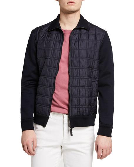 Brioni Men's Quilt Knit Blouson Jacket