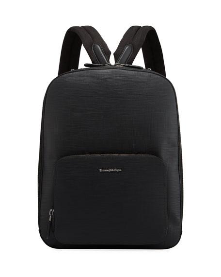 Ermenegildo Zegna Men's Stuoia Leather Backpack