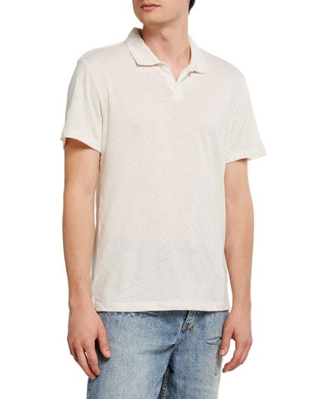 Onia Men's Shaun Linen Polo Shirt
