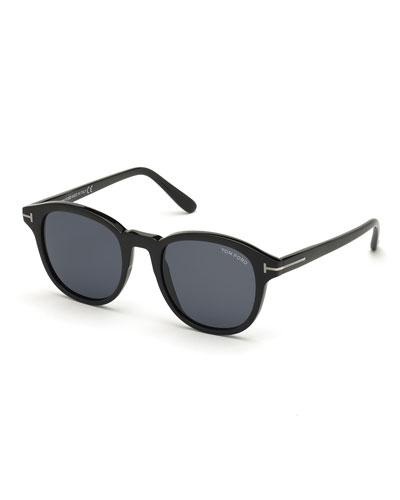 Men's Jameson Round Solid Acetate Sunglasses
