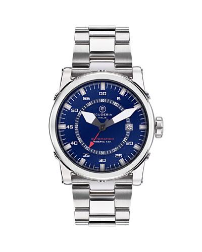 Men's 42mm Automatic Stainless Steel Bracelet Watch