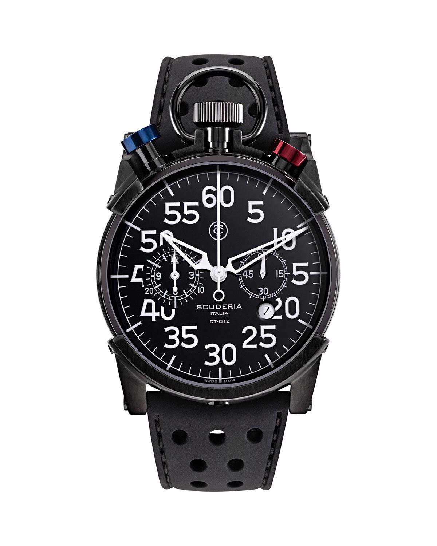 Men's 44mm Corsa Chronograph Silicone Watch