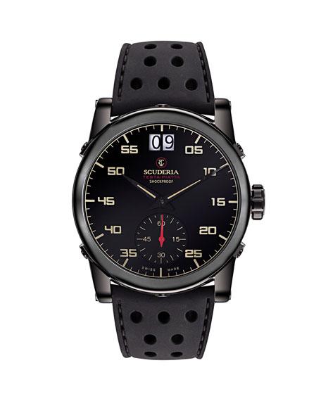 CT Scuderia Men's 42mm Testa-Piatta Perforated Silicone Watch