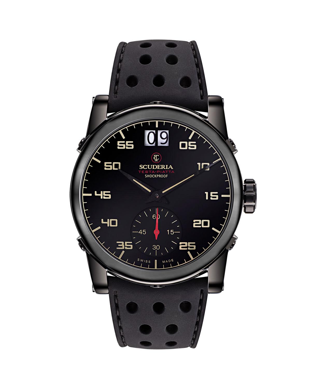 Men's 42mm Testa-Piatta Perforated Silicone Watch