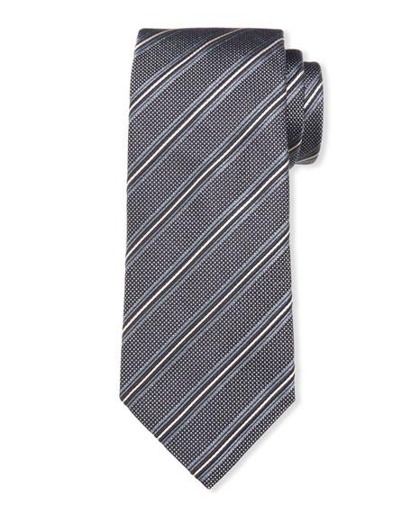 Giorgio Armani Men's Jacquard Stripe Silk/Cotton Tie
