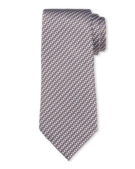 Giorgio Armani Men's Linear Jacquard Silk-Cotton Tie