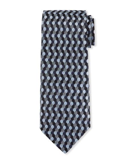 Giorgio Armani Men's Silk Hexagon Jacquard Tie