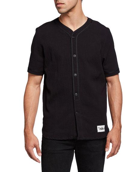 Ovadia Men's Short-Sleeve Button-Down Baseball Shirt