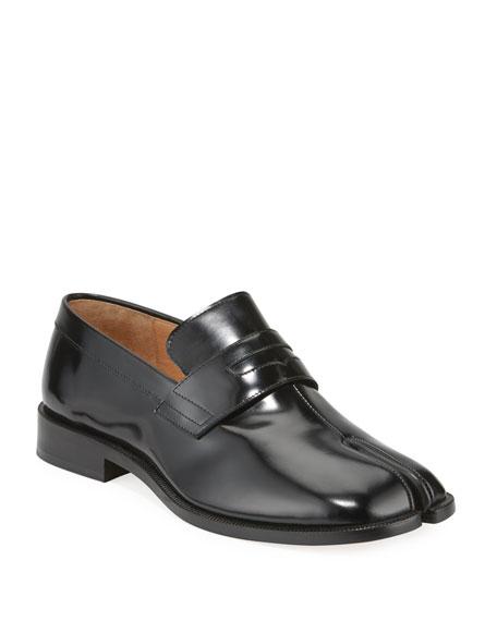 Maison Margiela Men's Tabi Advocate Split-Toe Penny Loafers