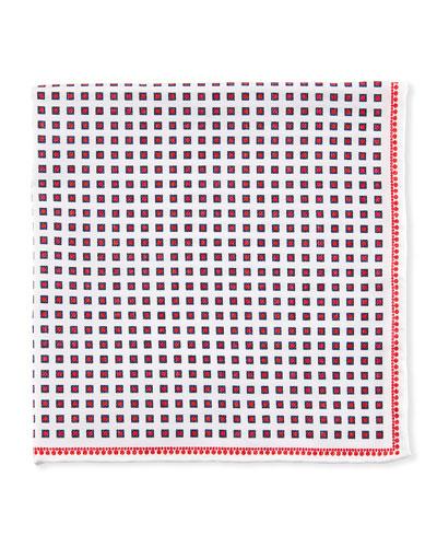 Spaced Squares Pocket Square